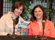 "Here's host Randi Lupo with her guest Author Paulette Szalay and her book ""Baggy Maggy and Friends Save Stinkville"""
